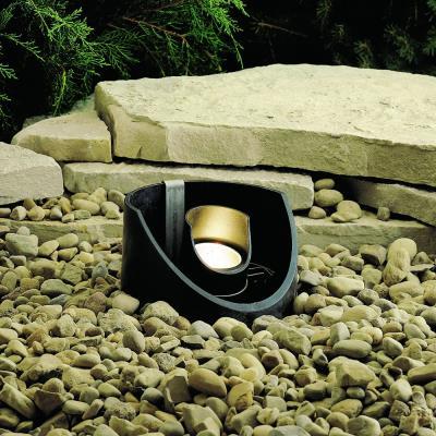 Kichler Lighting 15092BKT Low Voltage One Light In Ground Lamp