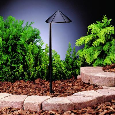 Kichler Lighting 15315BKT Six Groove - Low Voltage One Light Path Lamp
