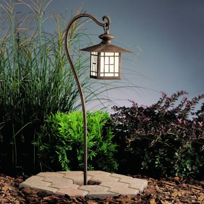 Kichler Lighting 15319PZ Six Groove - Low Voltage One Light Path Lamp