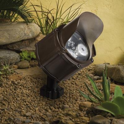 Kichler Lighting 15733BBR Low Voltage 60 Degree Wide Accent Landscape Light