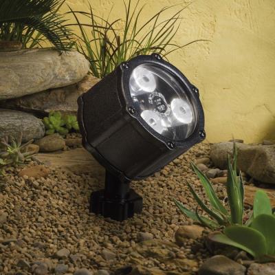 Kichler Lighting 15733BKT Low Voltage 60 Degree Wide Accent Landscape Light