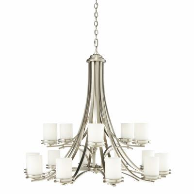 Kichler lighting 1675ni hendrik fifteen light two tier chandelier