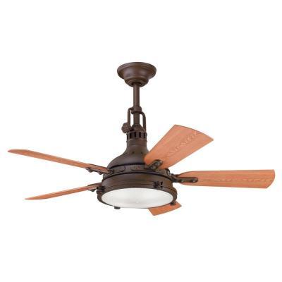 """Kichler Lighting 310101TZP Hatteras Bay Patio - 44"""" Ceiling Fan"""