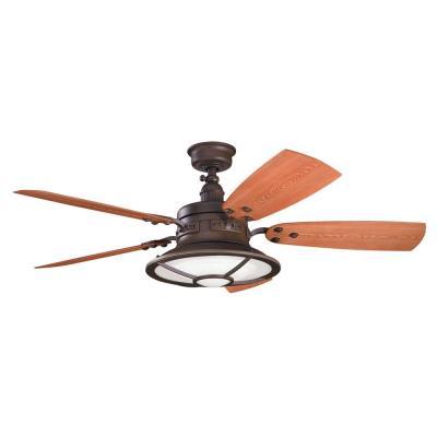"""Kichler Lighting 310102TZP Harbour Walk Patio -52"""" Ceiling Fan"""
