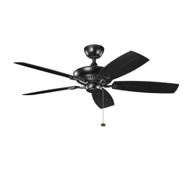 "Kichler Lighting 310192SBK Canfield Patio - 52"" Ceiling Fan"