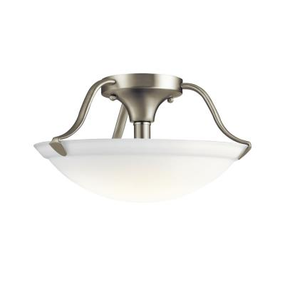 Kichler Lighting 3620NI Two Light Semi-Flush Mount