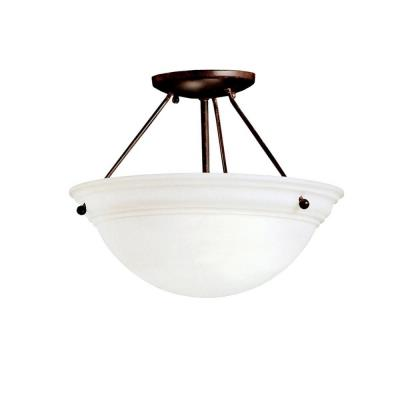 Kichler Lighting 3718TZ Two Light Semi-Flush Mount