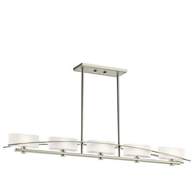 Kichler Lighting 42018NI Suspension - Five Light Linear Chandelier