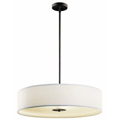 Kichler Lighting 42122OZ Three Light Inverted Drum Shade Pendant