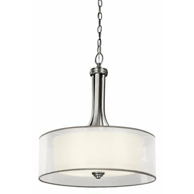 Kichler Lighting 42385 Lacey - Four Light Inverted Drum Shade Pendant