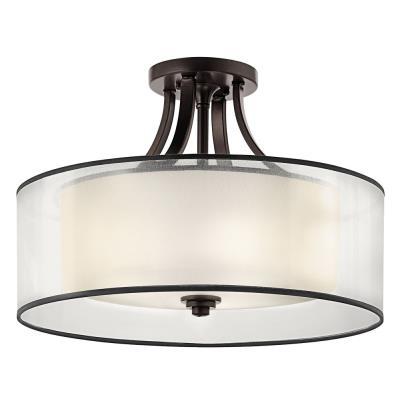 Kichler Lighting 42387MIZ Lacey - Four Light Semi-Flush Mount