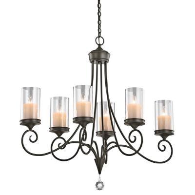 Kichler Lighting 42862SWZ Laurel - Six Light Oval Chandelier