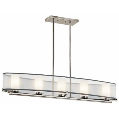 Kichler Lighting 42920CLP Saldana - Five Light Linear Chandelier