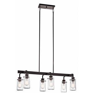 Braelyn - Six Light Linear Chandelier