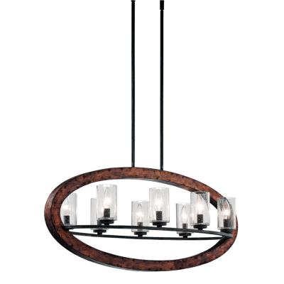 Kichler Lighting 43191AUB Grand Bank - Eight Light Linear Chandelier