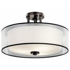 Tallie - Three Light Semi-Flush Mount