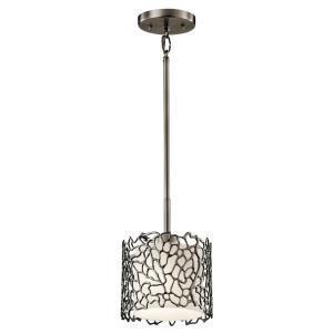 Silver Coral - One Light Mini Pendant