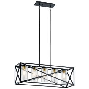 Moorgate - Five Light Linear Chandelier