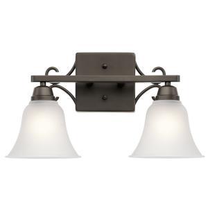 "Bixler - 16.75"" 18W 2 LED Swing Arm Bath Vanity"