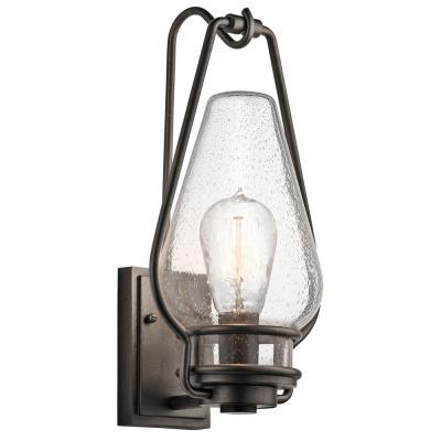Kichler Lighting 49007AVI Hanford - One Light Large Outdoor Wall Lantern
