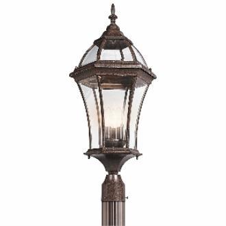 Kichler Lighting 49188TZ Townhouse - Three Light Outdoor Post Mount