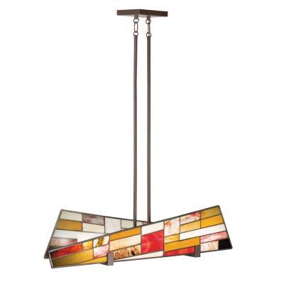 Kichler Lighting 65385 Shindy - Four Light Linear Chandelier