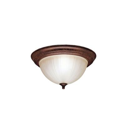 Kichler Lighting 8654TZ Two Light Flush Mount