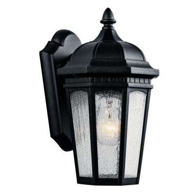 Kichler Lighting 9032BKT Courtyard - One Light Outdoor Small Wall Mount