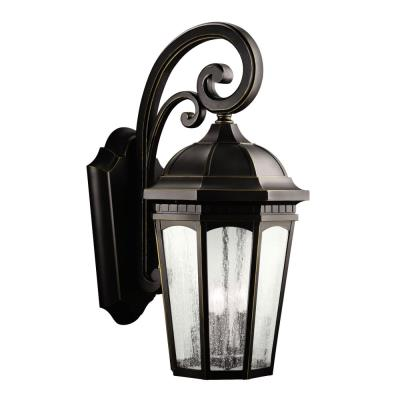 Kichler Lighting 9035RZ Courtyard - Three Light Outdoor Wall Mount