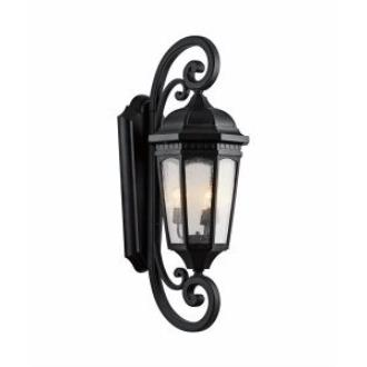 Kichler Lighting 9060BKT Courtyard - Three Light Outdoor X-Large Wall Mount