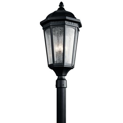 Kichler Lighting 9533BKT Courtyard - Three Light Post
