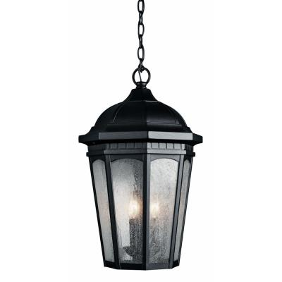 Kichler Lighting 9539BKT Courtyard - Three Light Outdoor Hanging Pendant