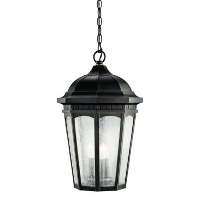 Kichler Lighting 9539RZ Courtyard - Three Light Outdoor Pendant