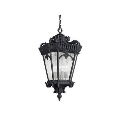Kichler Lighting 9564BKT Tournai - Four Light Outdoor Hanging Pendant