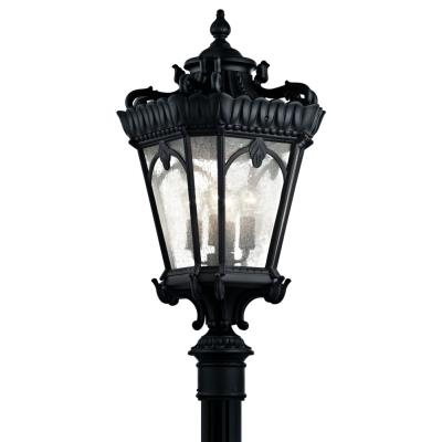 Kichler Lighting 9565BKT Tournai - Four Light Post