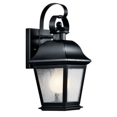 Kichler Lighting 9707BK Mount Vernon - One Light Small Outdoor Wall Lantern