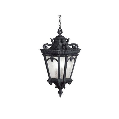 Kichler Lighting 9855BKT Tournai - Three Light Outdoor Hanging Pendant