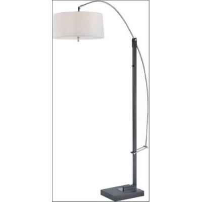 Lite Source LS-81561BLK/WHT Karm - Three Light Adjustable Arch Lamp
