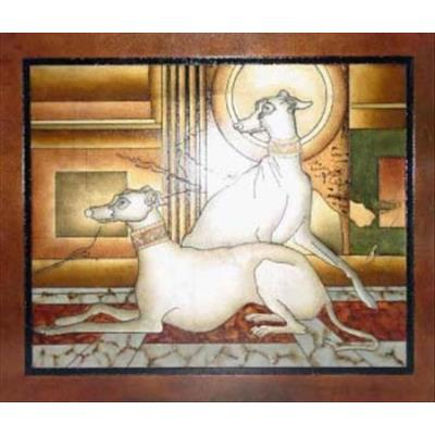 Lite Source LP - 1508 Painting - Twin Dogs