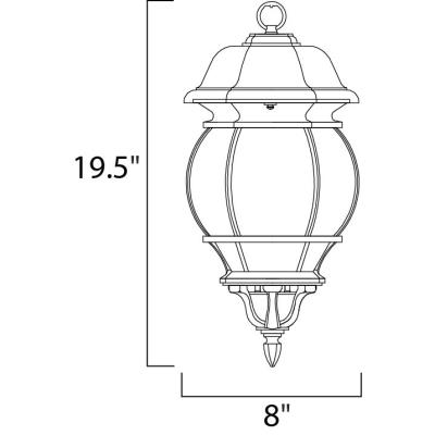 Maxim Lighting 1036 Crown Hill - Three Light Outdoor Hanging Lantern