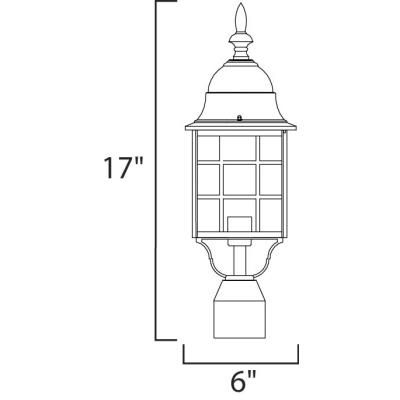 Maxim Lighting 1052 North Church - One Light Outdoor Post Mount