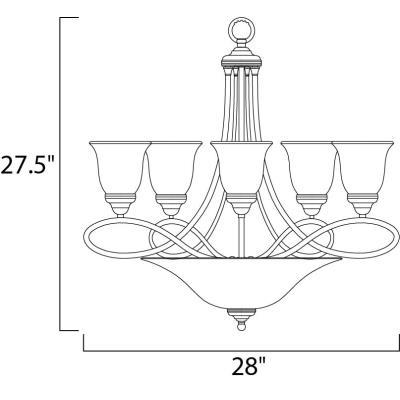 Maxim Lighting 11041 Nova - Seven Light 2-Tier Chandelier