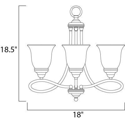 Maxim Lighting 11042 Nova - Three Light Chandelier