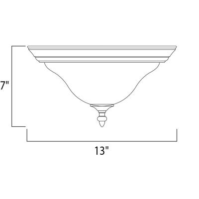 Maxim Lighting 2650 Pacific - Two Light Flush Mount