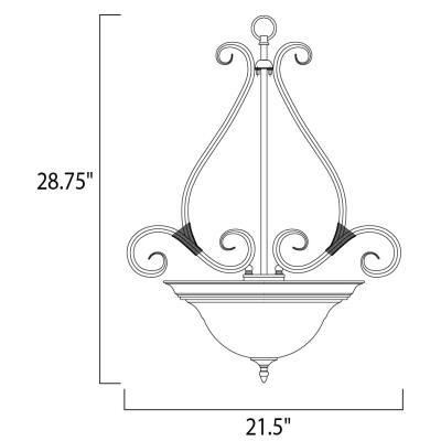 Maxim Lighting 2654 Pacific - Three Light Invert Bowl Pendant