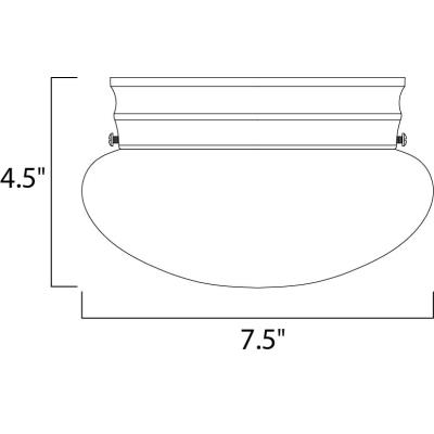 Maxim Lighting 5884 Essentials - One Light Flush Mount