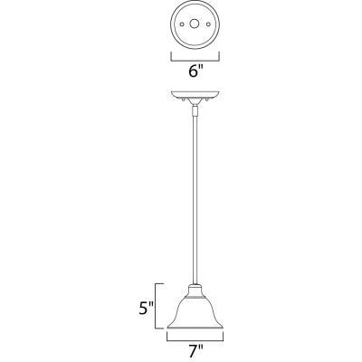 Maxim Lighting 91068 Pacific - One Light Mini-Pendant