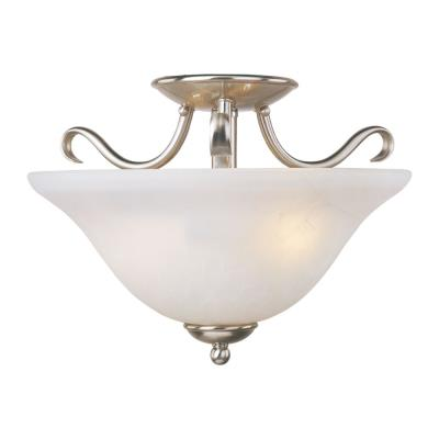 Maxim Lighting 10120ICSN Basix - Two Light Semi-Flush Mount