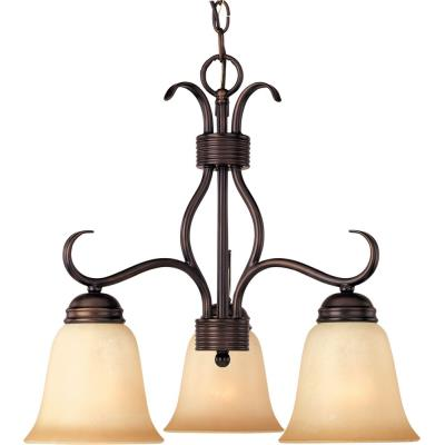 Maxim Lighting 10122WSOI Basix - Three Light Chandelier