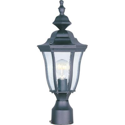 Maxim Lighting 1013BK Madrona - One Light Post Mount